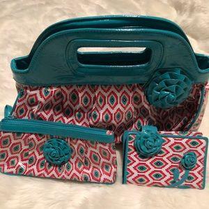 Vera Bradley Handbag with small wallet & wristlet
